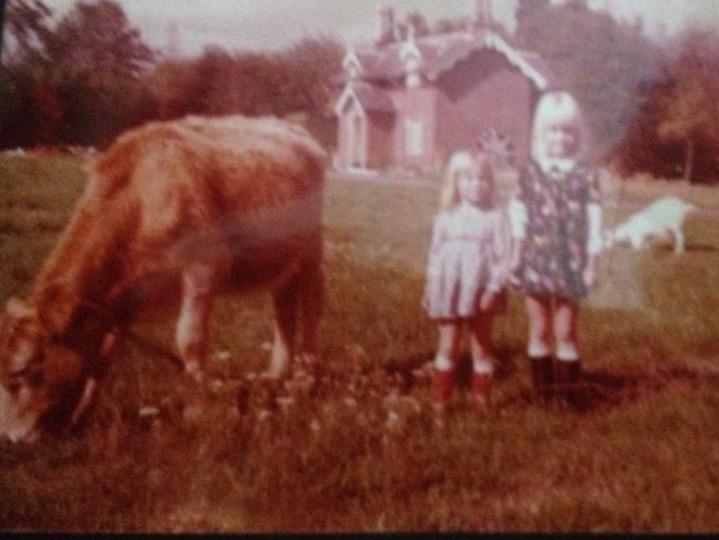Rachel and cow